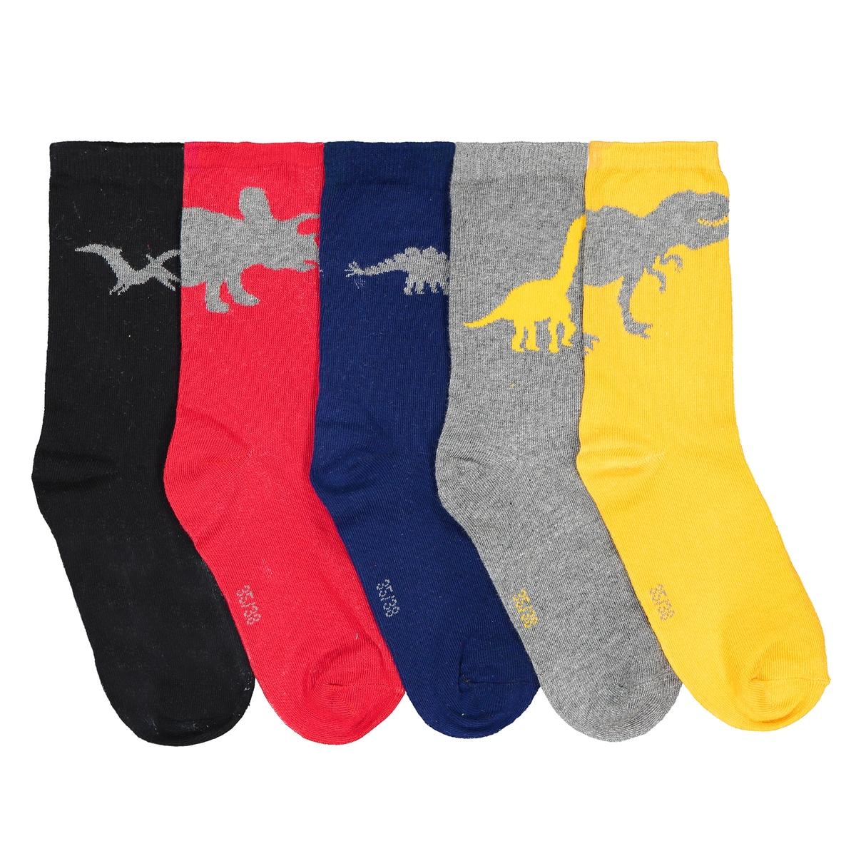 Комплект из пар носков La Redoute Средней длины 35/38 разноцветный