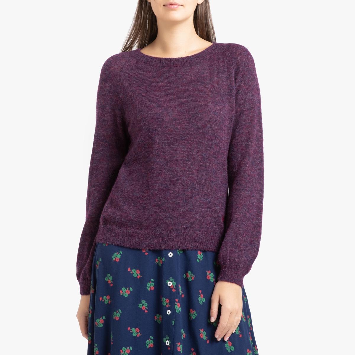 Пуловер La Redoute С круглым вырезом и длинными рукавами MAYONESSOU L красный цена