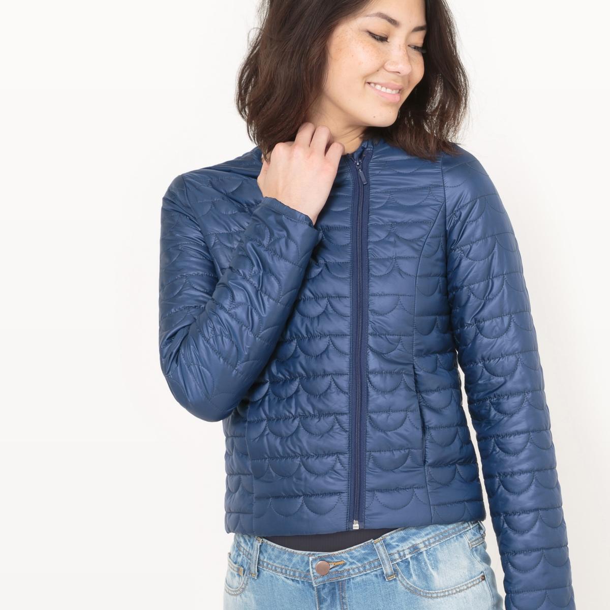 Куртка стеганая короткая из полиэстера