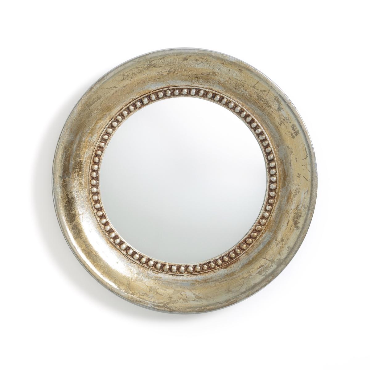 Зеркало La Redoute Круглое золотистого цвета с эффектом под старину AFSAN единый размер золотистый