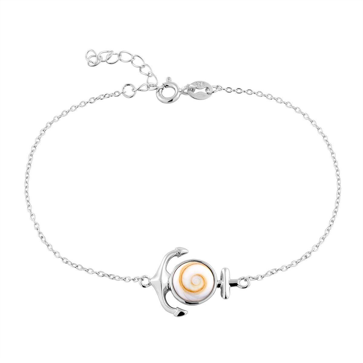 Bracelet en Argent 925/1000 et Oeil De Sainte Lucie