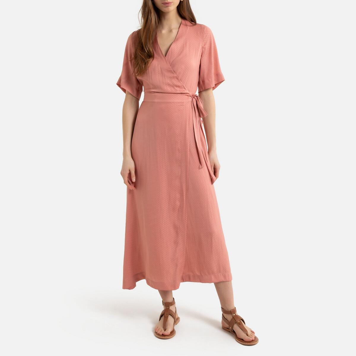 Платье La Redoute С запахом длинное 34 (FR) - 40 (RUS) розовый