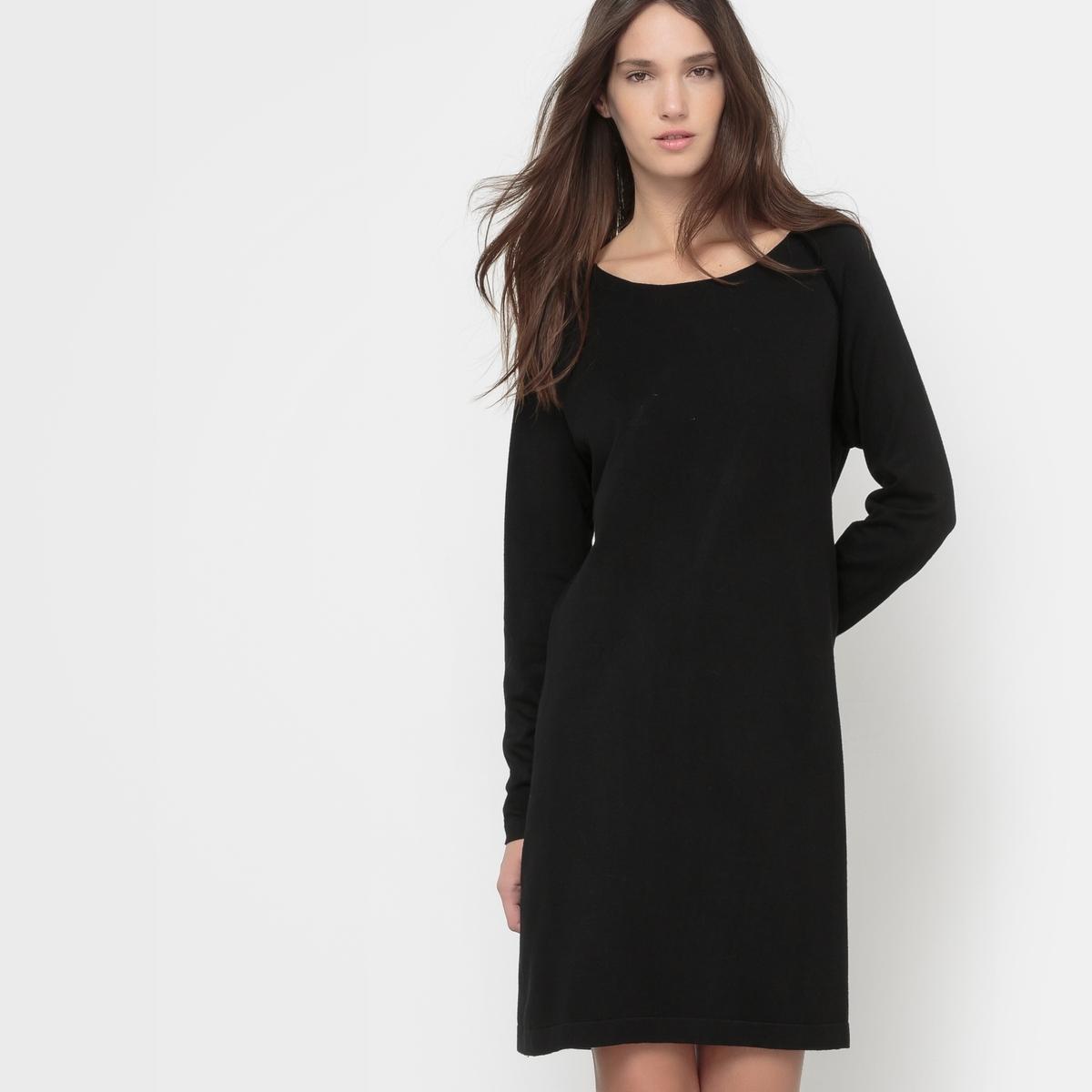 Платье с длинными рукавамиСостав &amp; ДеталиМатериал        80% вискозы, 20% Нейлона®       Марка        VERO MODA                     Уход       Следуйте рекомендациям по уходу, указанным на этикетке изделия.<br><br>Цвет: черный<br>Размер: S