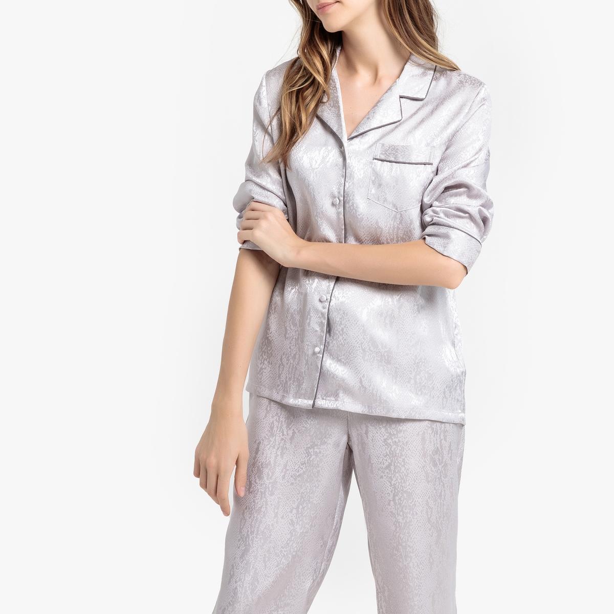 Pijama de satén jacquard