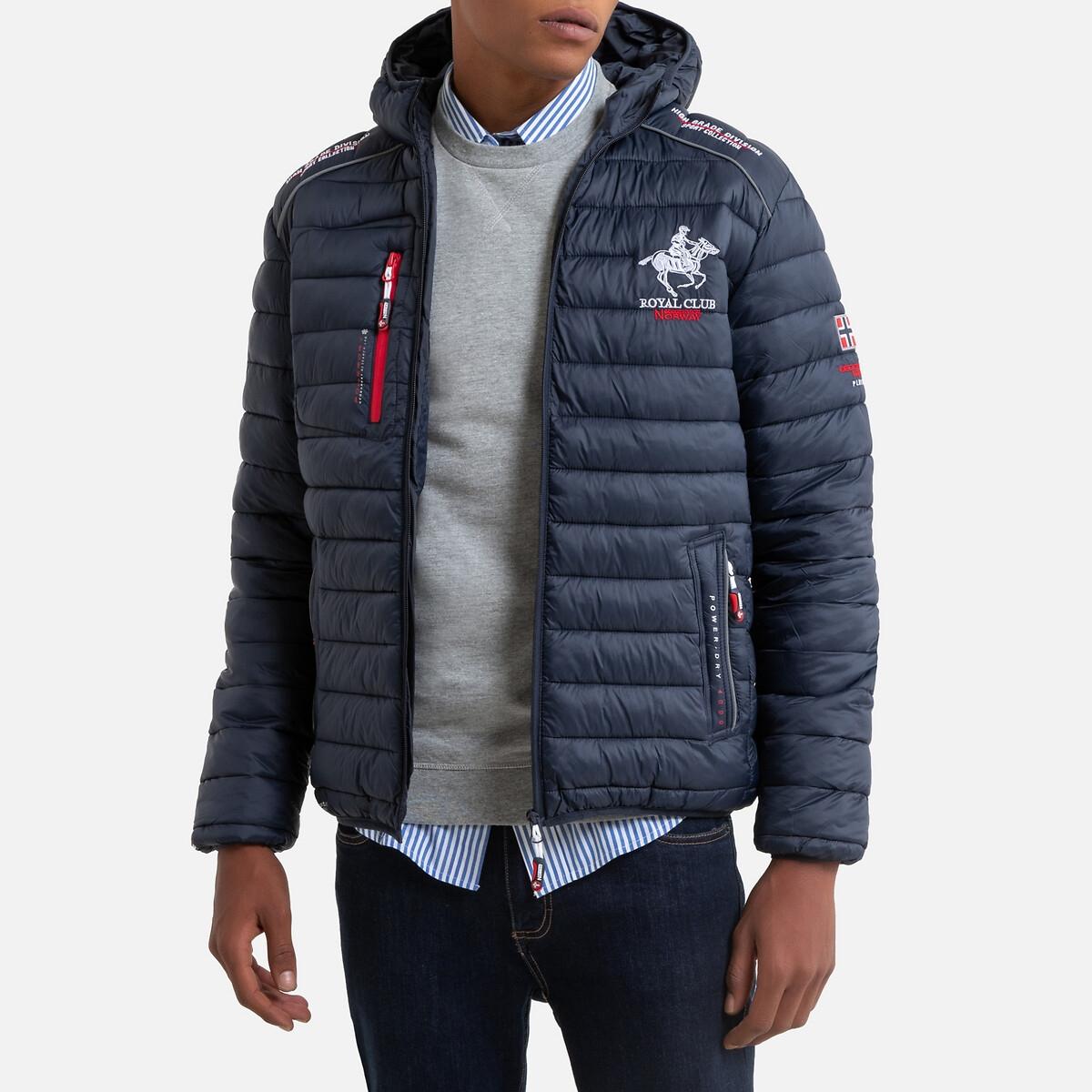 Куртка LaRedoute Стеганая на молнии с капюшоном Brick XL синий куртка la redoute стеганая на молнии с капюшоном idaho 2 3xl синий