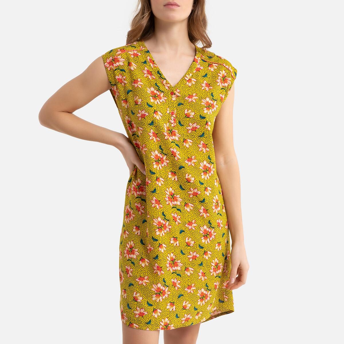 Camisa de dormir estampada às flores
