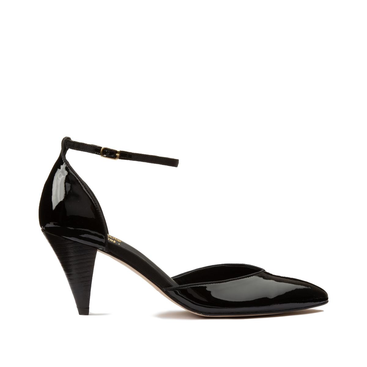 Туфли La Redoute Из лакированной кожи 35 черный
