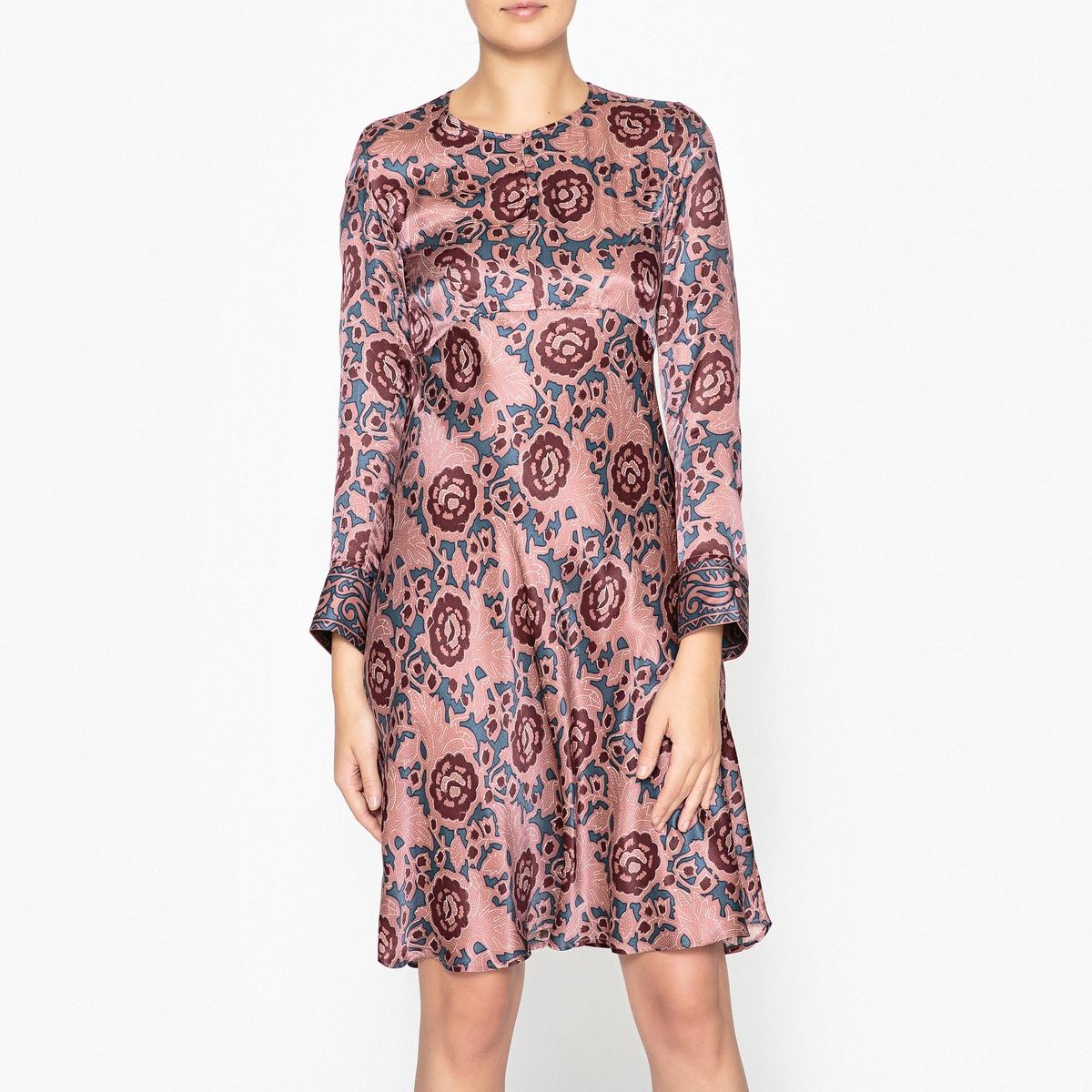 Платье с рисунком PONDICHERY платье длинное из струящейся вискозы