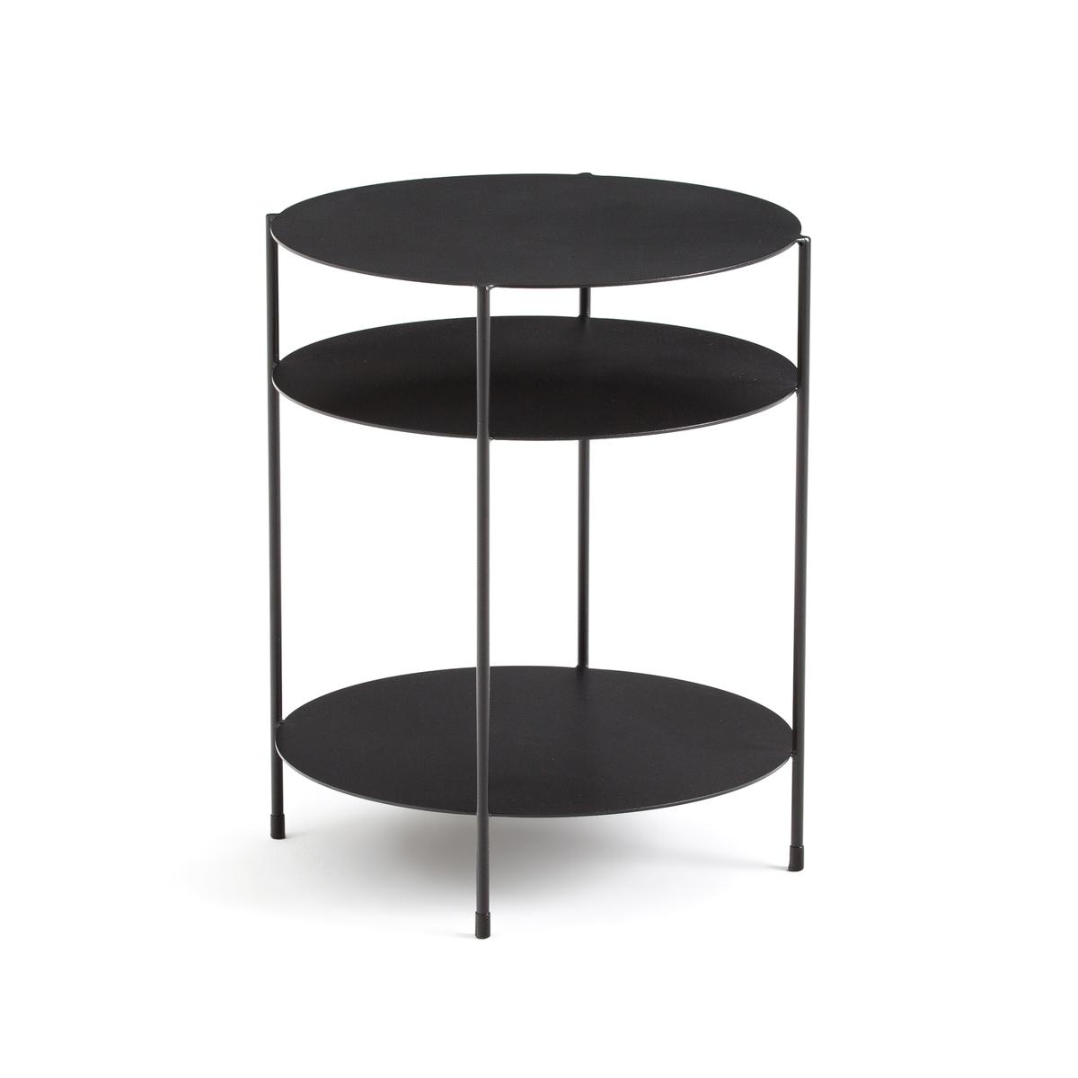 Столик LaRedoute Диванный с 3 столешницами Hiba единый размер черный