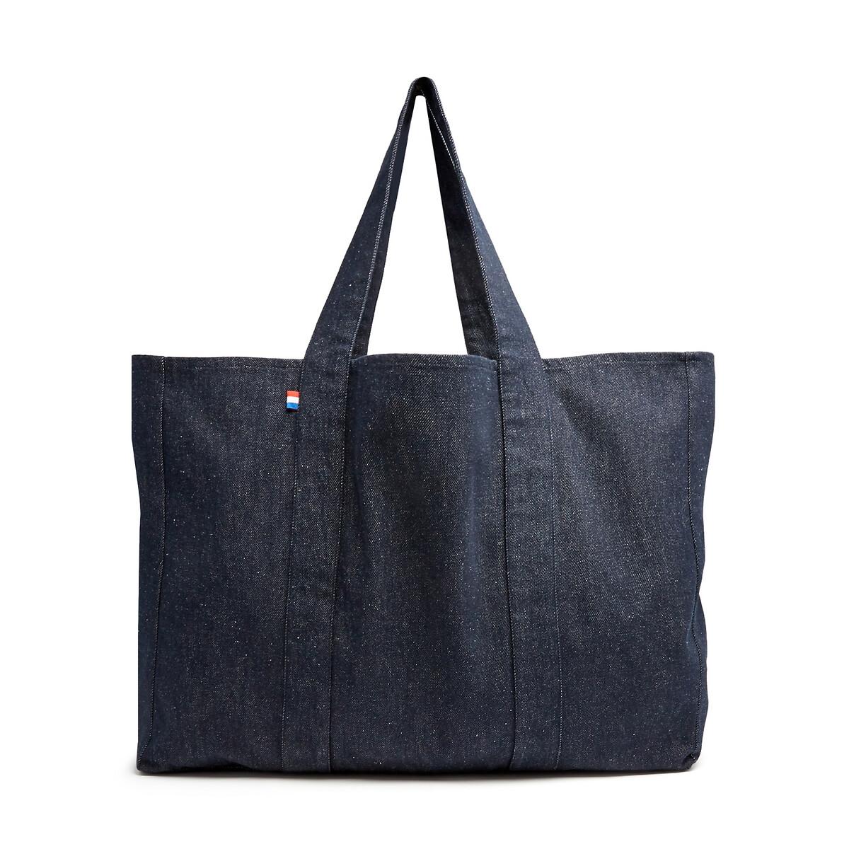 Сумка-шоппер La Redoute Джинсовая Made in France единый размер синий сумка la redoute кожаная sunny foil единый размер синий
