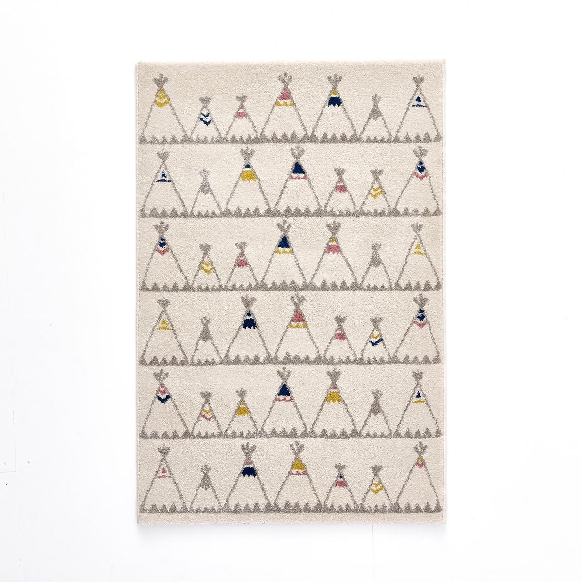 Ковер La Redoute Детский с рисунком вигвам Zoupiou 80 x 120 см бежевый ковер la redoute горизонтального плетения с рисунком цементная плитка iswik 120 x 170 см бежевый