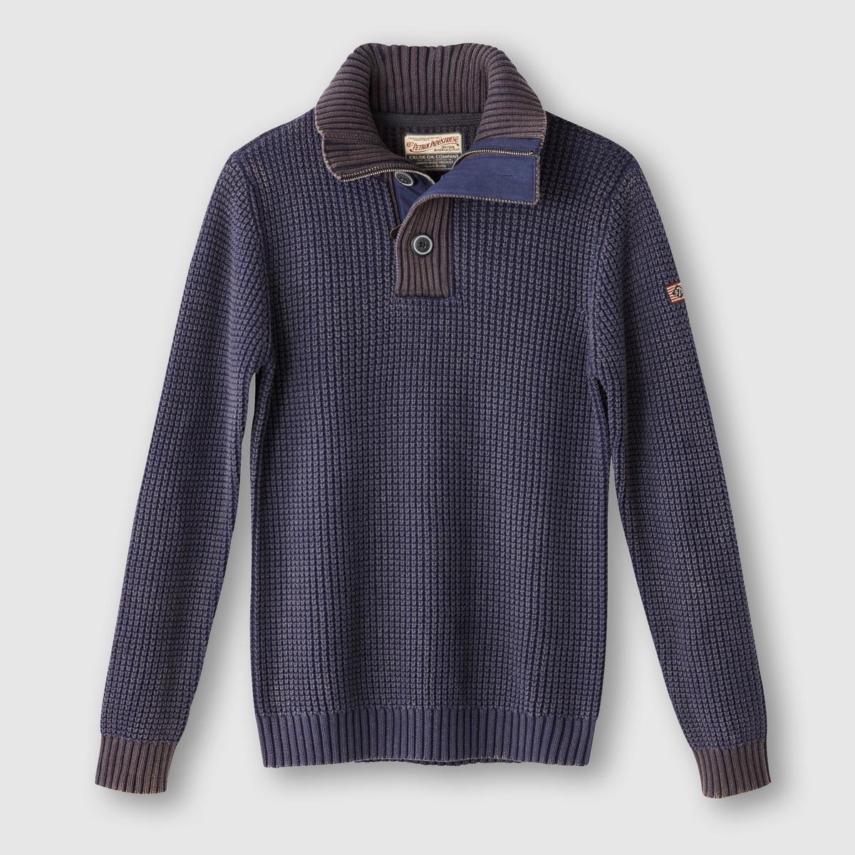 Пуловер с высоким воротникомСостав и описаниеМатериал: 100% хлопок.Марка: PETROL INDUSTRIES.<br><br>Цвет: синий