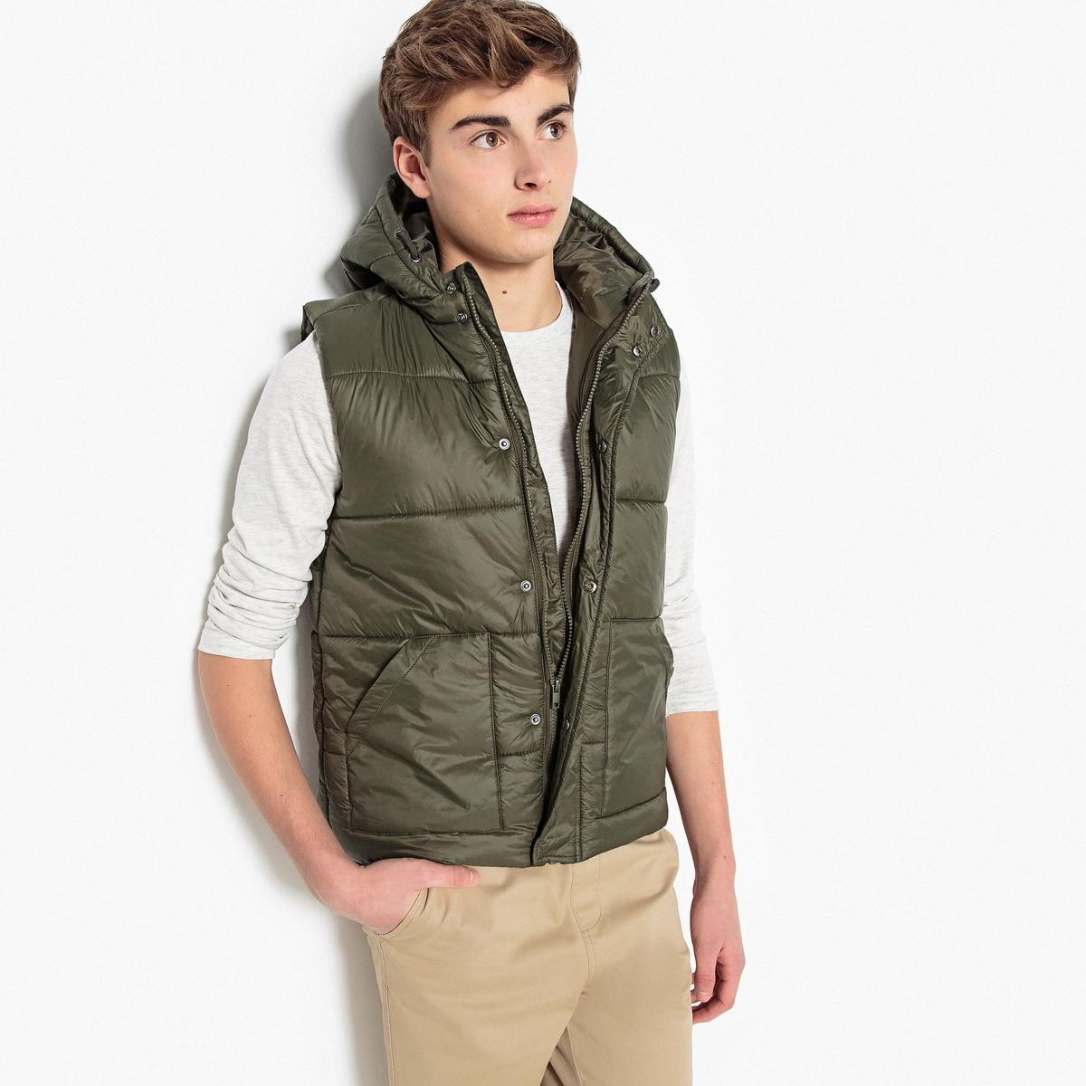 Стёганая куртка без рукавов на 10-16 летДетали •  Для холодной зимы •  Непромокаемая •  Застежка на молнию •  с капюшоном •Длина : укороченная  Состав и уход •  100% полиамид •  Подкладка : 100% полиэстер •  Наполнитель : 100% полиэстер •  Температура стирки 30° •  Не гладить / не отбеливать •  Не использовать барабанную сушку •  Сухая чистка запрещена<br><br>Цвет: синий морской<br>Размер: 12 лет -150 см
