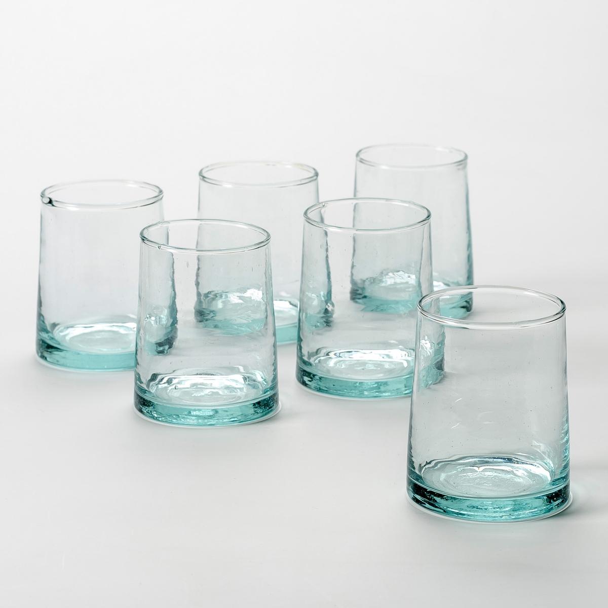 Комплект из 6 стаканов из дутого стекла, Gimani от La Redoute