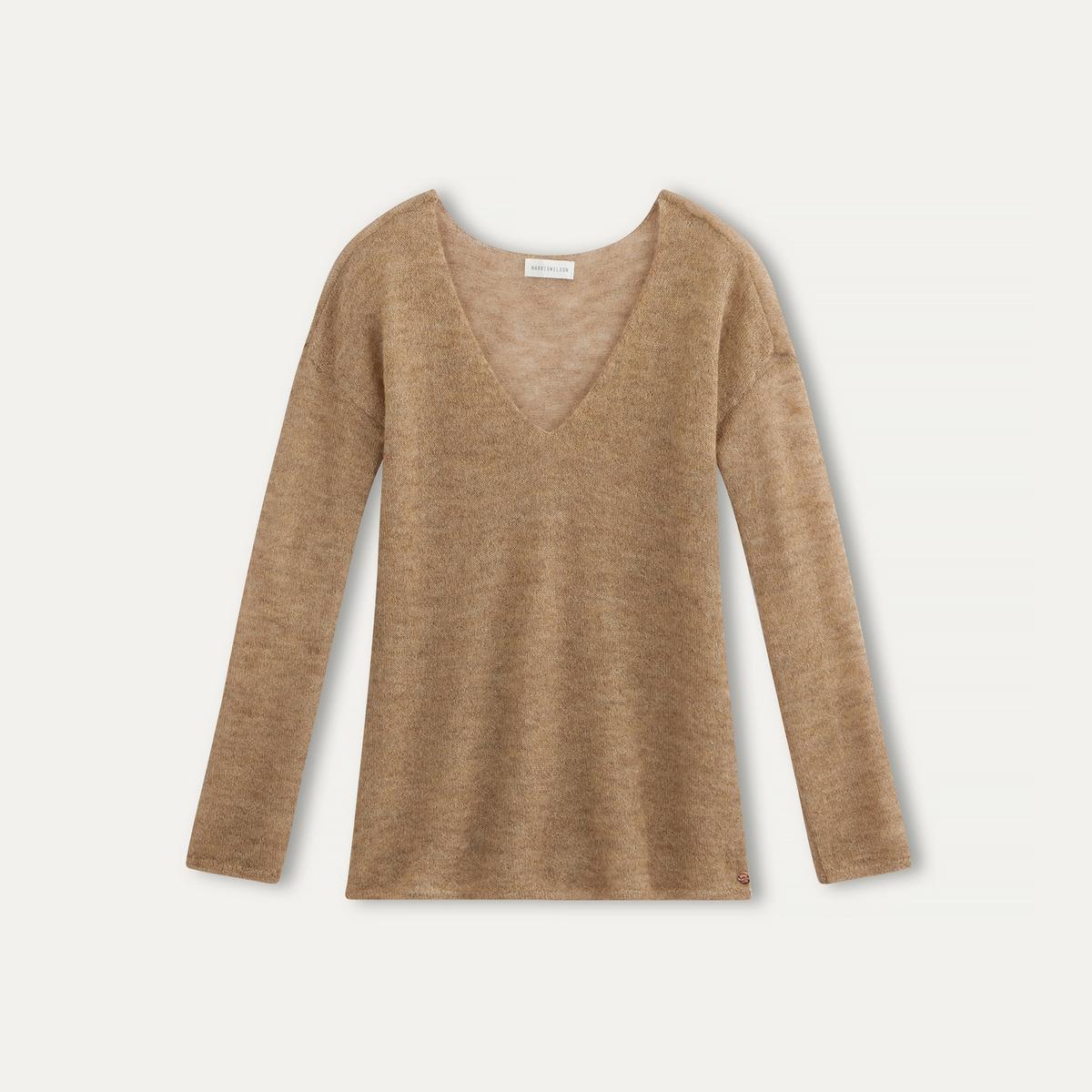 Пуловер  ADEPTEСостав и описание    Материал : 55% шерсти детенышей альпак, 45% полиамида   Марка : HARRIS WILSON<br><br>Цвет: охра