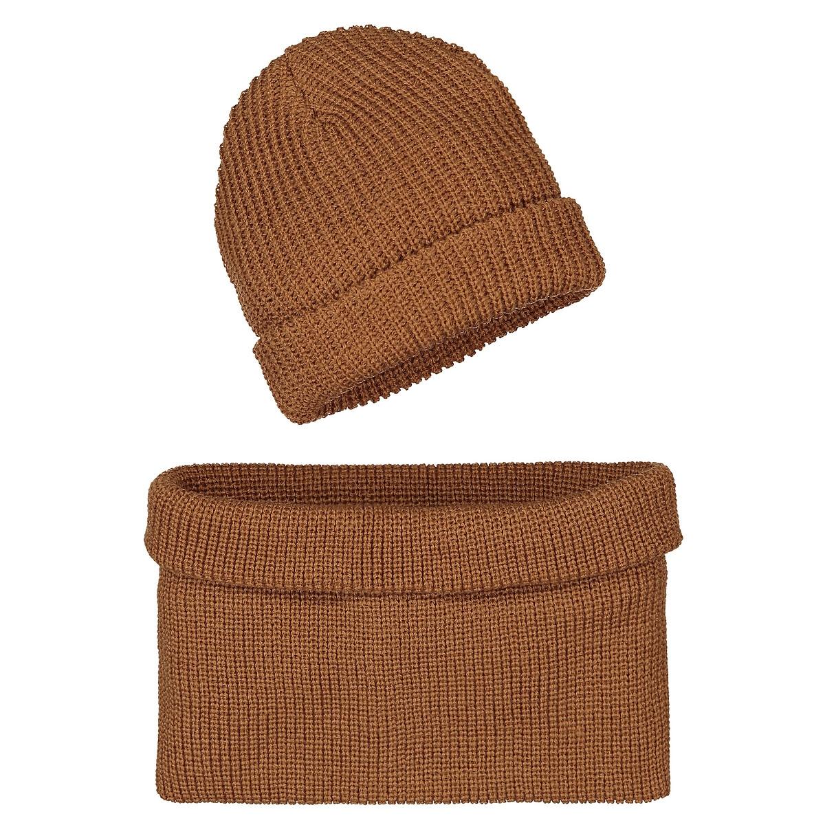 Шапка LaRedoute И снуд 52 см желтый шапочки и чепчики premont шапка шарф снуд w47301