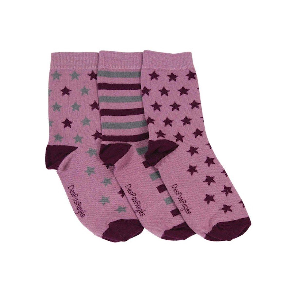 Chaussettes dépareillées à étoiles