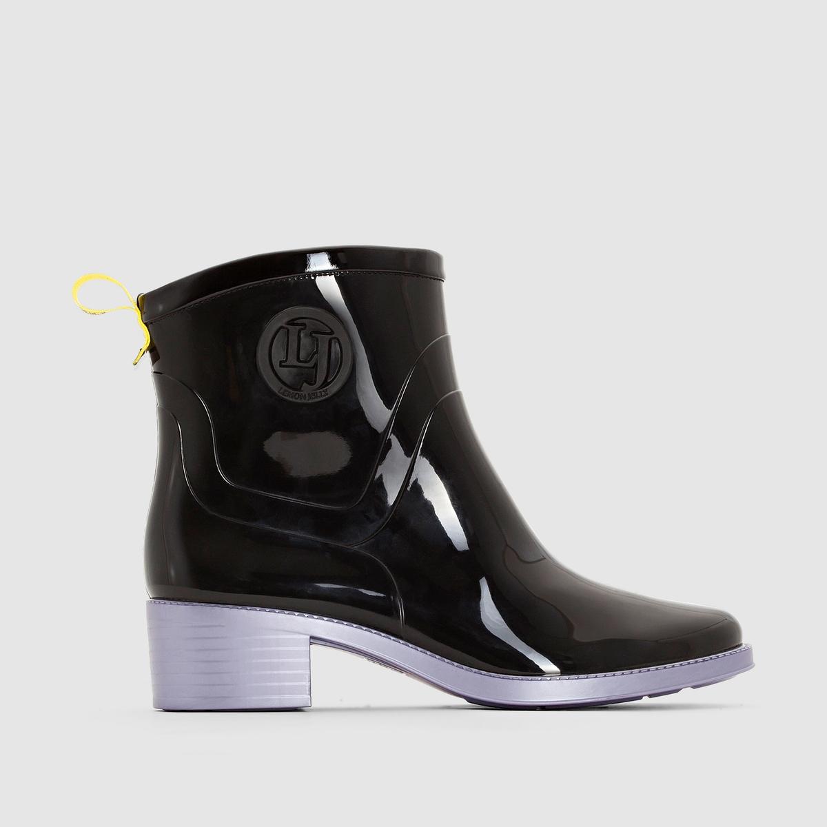 Ботильоны LEMON JELLY IARAПреимущества : ботильоны LEMON JELLY, идеальные для дождливых дней, а также очень модные в этом сезоне вне зависимости от погоды .<br><br>Цвет: черный/ лиловый<br>Размер: 39