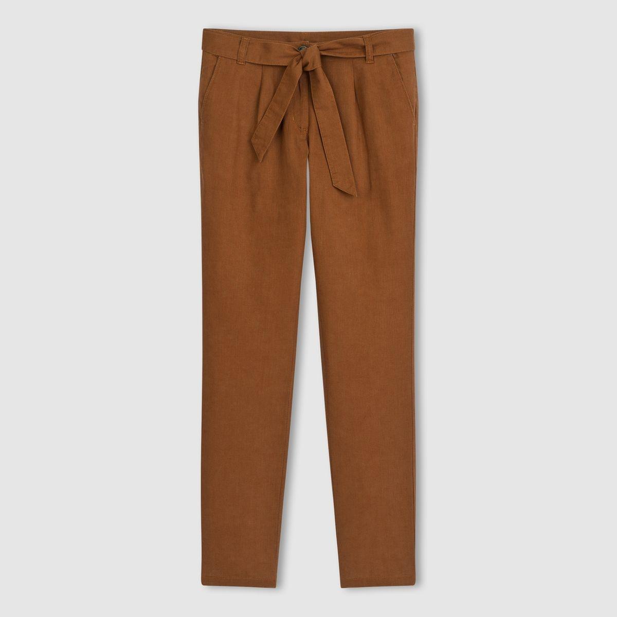 Pantalon 7/8ème lin/coton