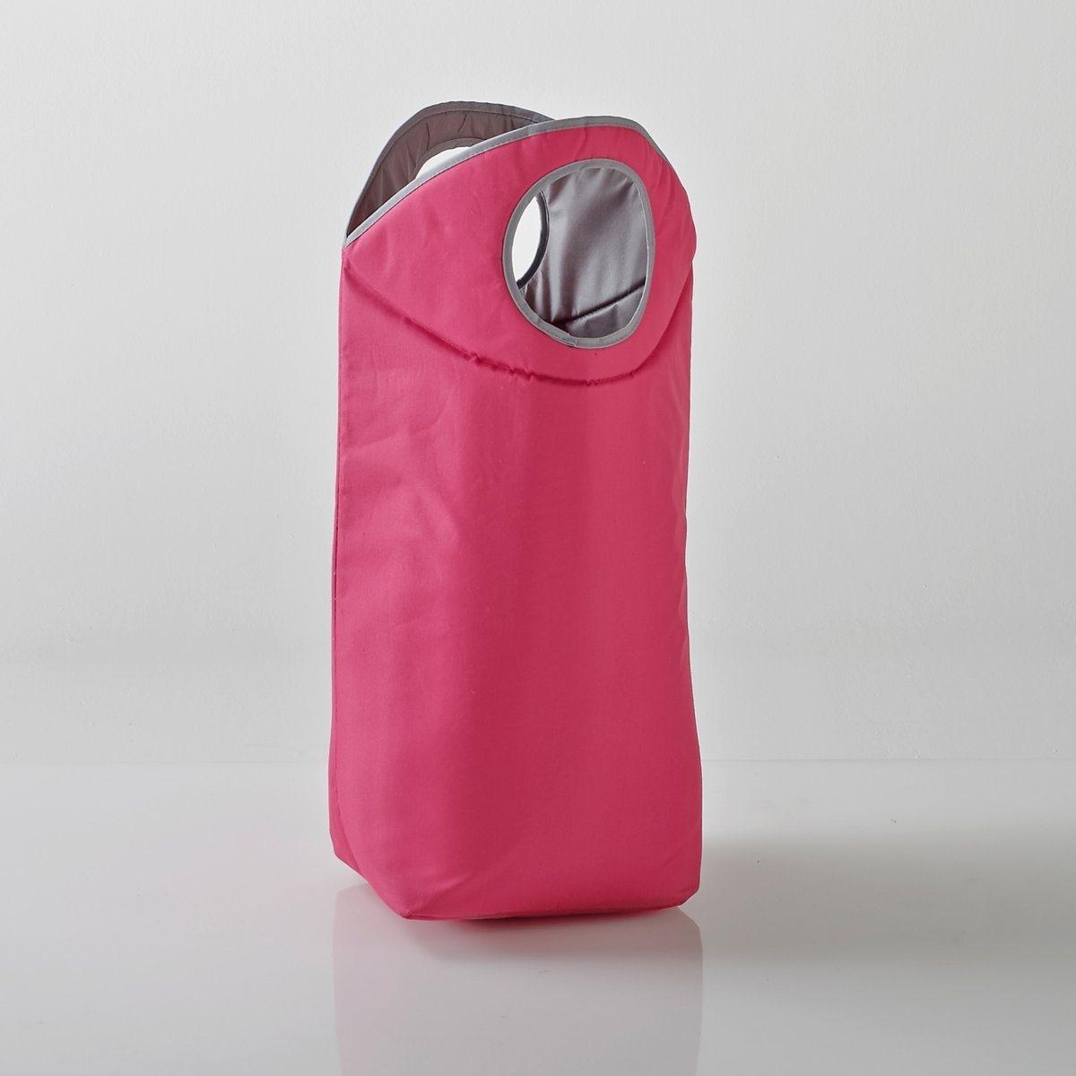 Корзина для белья или хранения.Характеристики корзины для белья или хранения:100% полиэстера. Двухцветные ручки, кант серого цвета.Размеры корзины для белья или хранения:Высота: 78 смШирина: 54 см.Глубина: 30 см.<br><br>Цвет: темно-розовый однотонный
