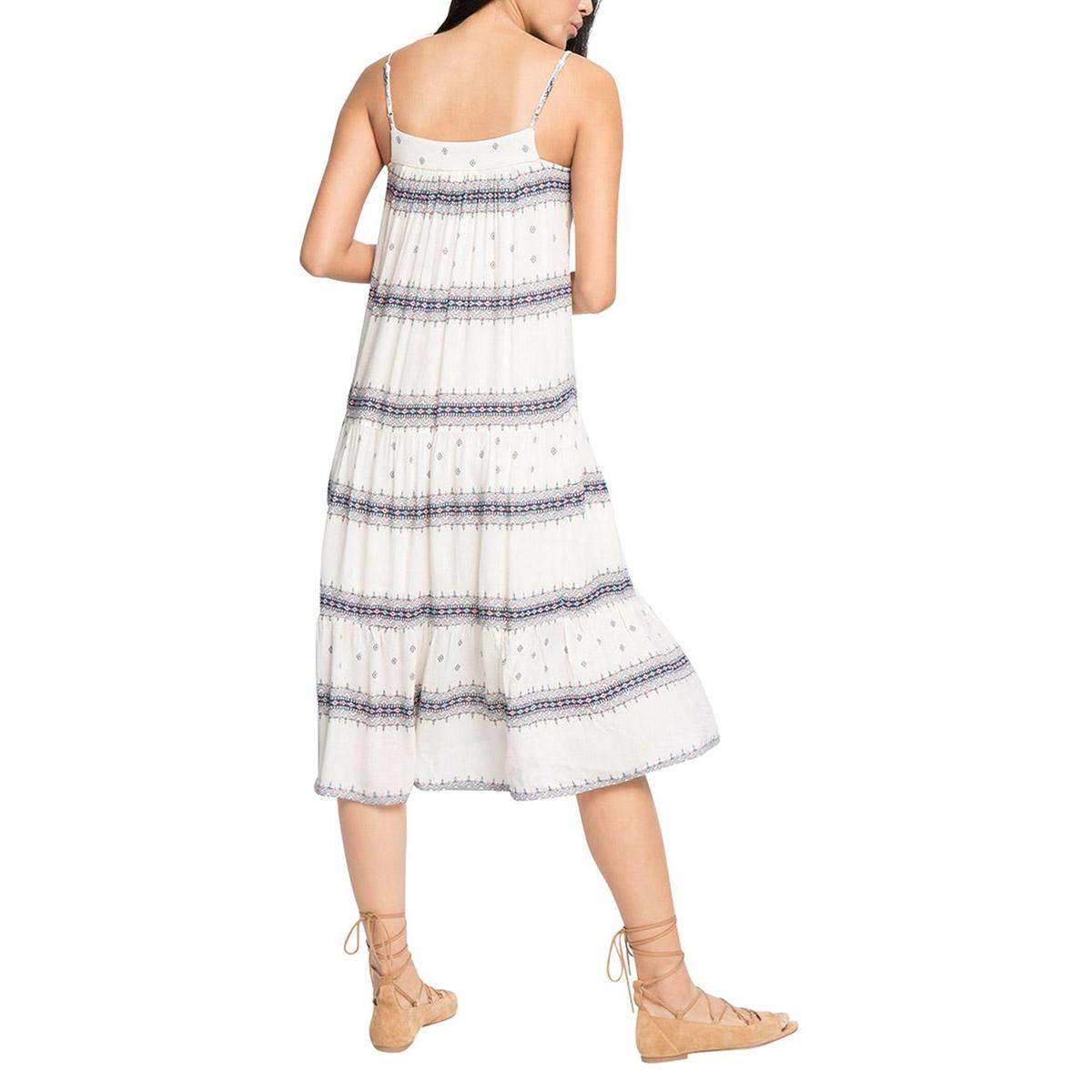 Платье с тонкими бретелямиПлатье, ESPRIT. Тонкие бретели. Небольшие этнические рисунки и горизонтальные полосы. Характеристики и описание   Материал      100% вискозы   Марка      ESPRIT<br><br>Цвет: экрю/рисунок