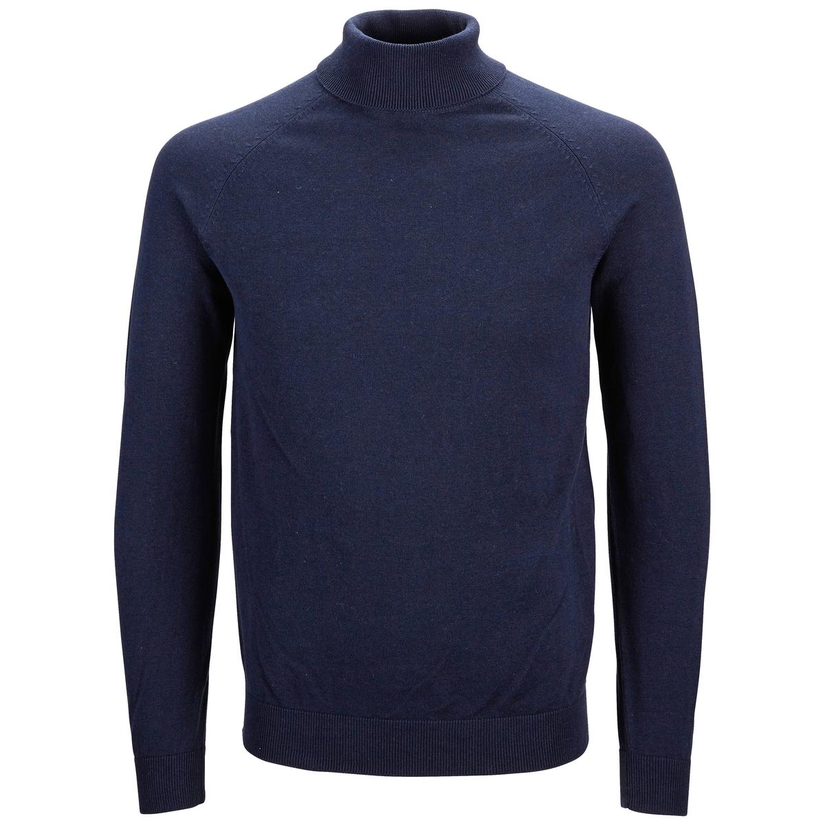 Пуловер с высоким воротникомСостав и описание :Материал : 90% хлопка, 10% шелкаМарка : SELECTED HOMME.<br><br>Цвет: темно-синий<br>Размер: M
