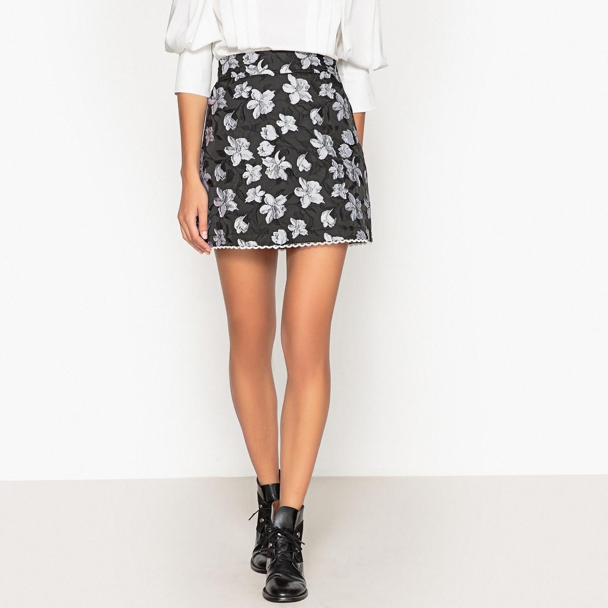 Юбка короткая с рисунком юбка однотонная короткая