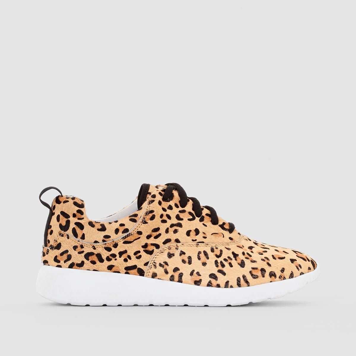 КедыПреимущества : эти кеды с ворсом и леопардовым принтом в спортивном стиле обладают всем, чтобы нравиться, комфортом - в первую очередь .<br><br>Цвет: леопардовый рисунок<br>Размер: 42.39.37