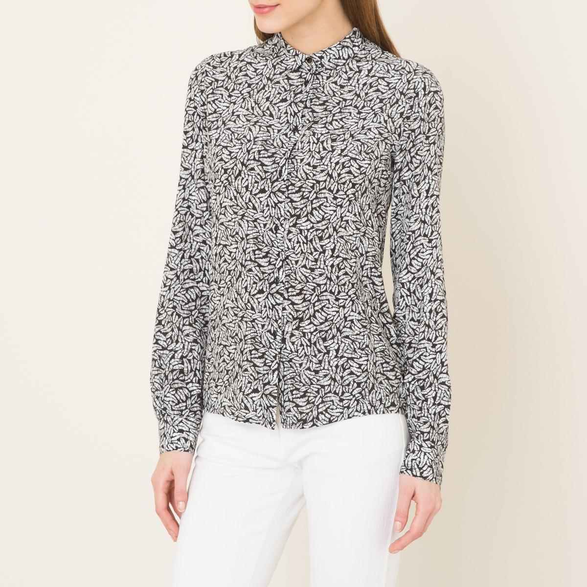 Рубашка MISIAРубашка SESSUN - модель MISIA из вискозы. Рубашечный воротник со свободными уголками    . Длинные рукава, манжеты с застежкой на пуговицу. Застежка на пуговицы спереди. Прямой низ.Состав и описание    Материал : 100% вискоза   Марка : SESSUN<br><br>Цвет: черный/ белый