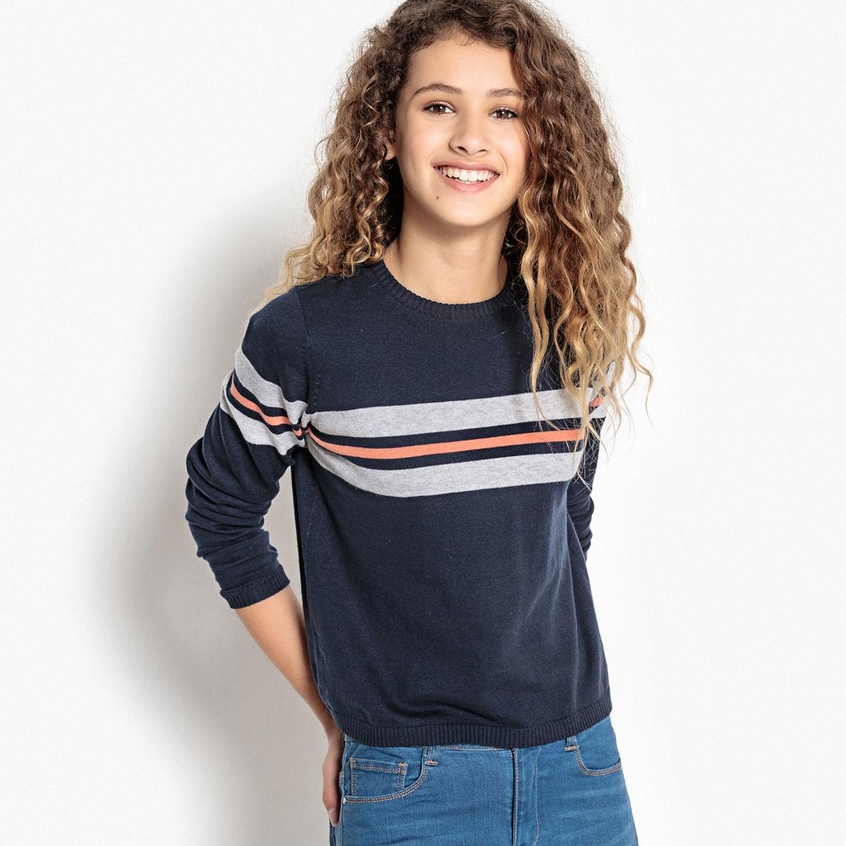 Пуловер в полоску, из тонкого трикотажа 10-16 лет