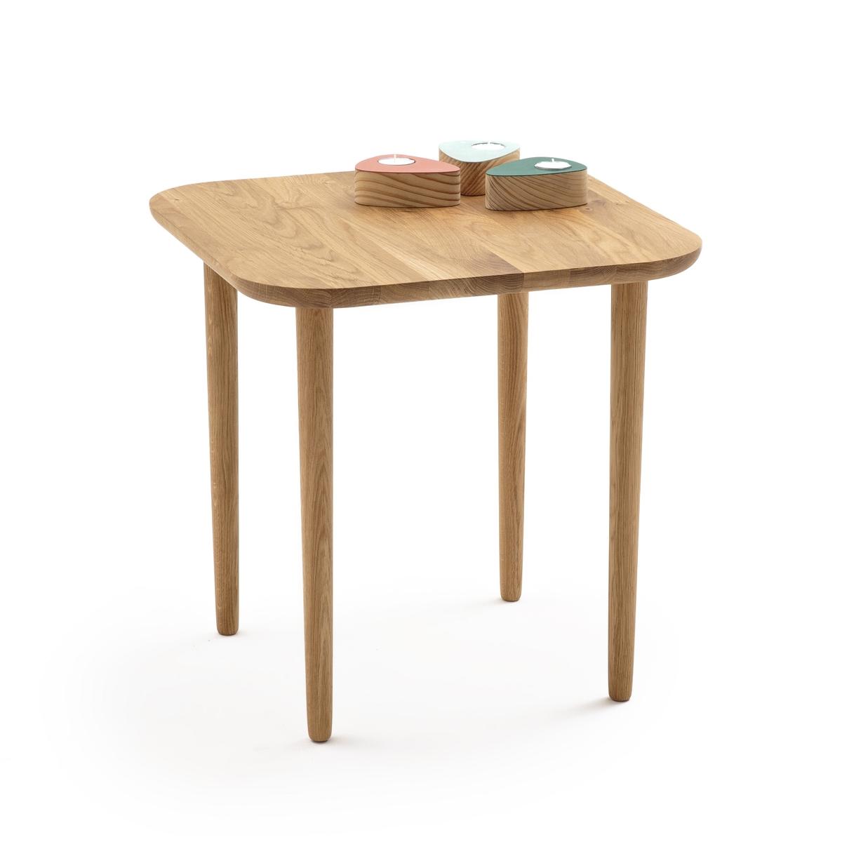 Столик журнальный высокий квадратный из дуба CRUESO столик журнальный квадратный из массива дуба aranza