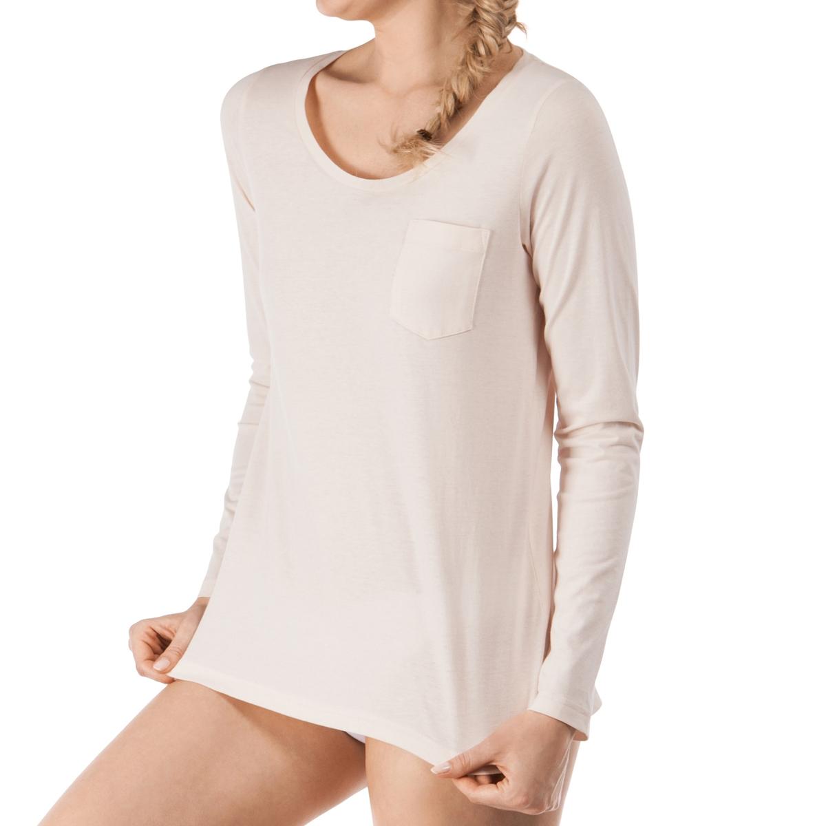 Футболка из хлопка, Sleep DreamФутболка с длинными рукавами Sleep Dream от Skinny. Стильная футболка с круглым вырезом, отличной отделкой, которую вы будете носить с удовольствием вечером. В этой модели есть небольшой карман сбоку на уровне груди.  Состав и детали :Материал : 100% хлопка Подкладка : -  Марка : SKINNYУход :Машинная стирка при 30°.Машинная сушка запрещена.Не гладить.<br><br>Цвет: розовый<br>Размер: 36 (FR) - 42 (RUS)