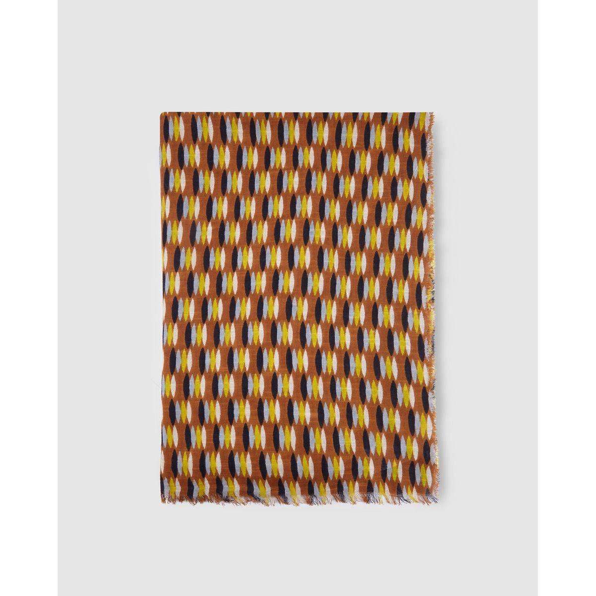 Foulard en coton  à imprimé multicolore
