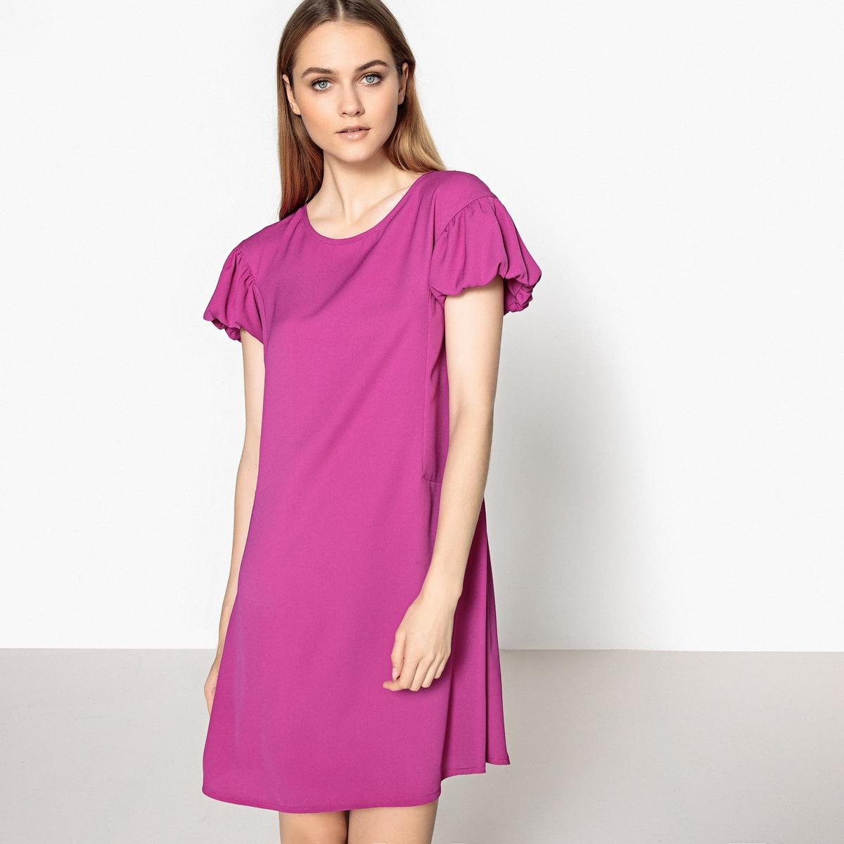 Платье прямое с оригинальными рукавами