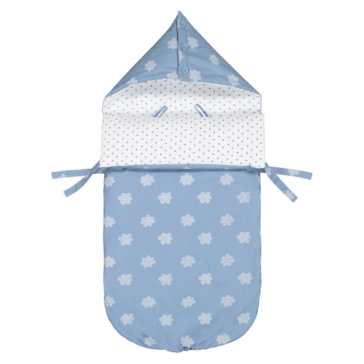 Конверт La Redoute Для новорожденных с капюшоном и рисунком единый размер синий боди для новорожденных лапушка стиляга цвет синий ст002и размер 36 56