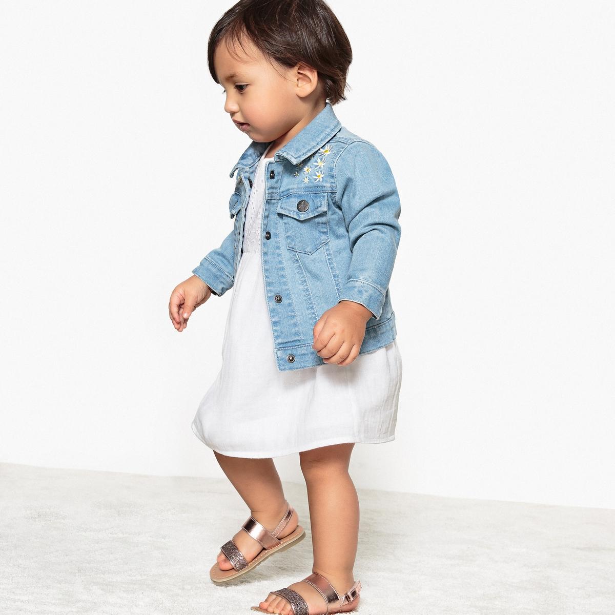 Жакет джинсовый с вышивкой 3 мес - 3 лет