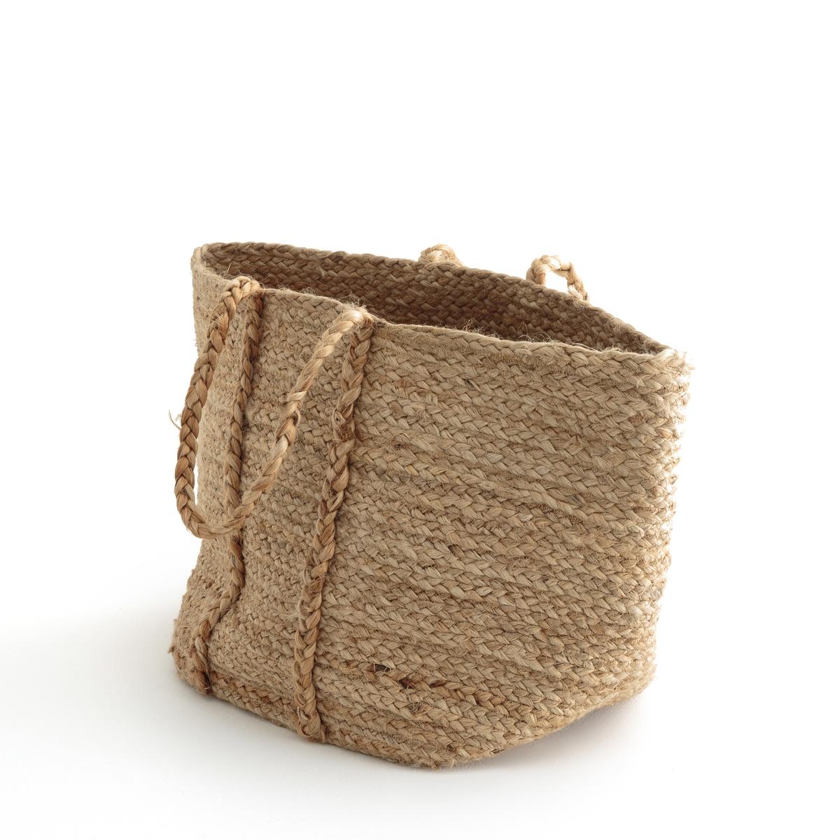 Корзина из натуральной джутовой ткани, NATURALLEВеликолепная корзина ручной работы Naturalle из натуральной джутовой ткани !Описание мягкой корзины Naturalle :100% натуральная джутовая ткань Размеры мягкой корзины Naturalle :Верх. 35 см x диамтер 35 см .<br><br>Цвет: серо-бежевый<br>Размер: единый размер