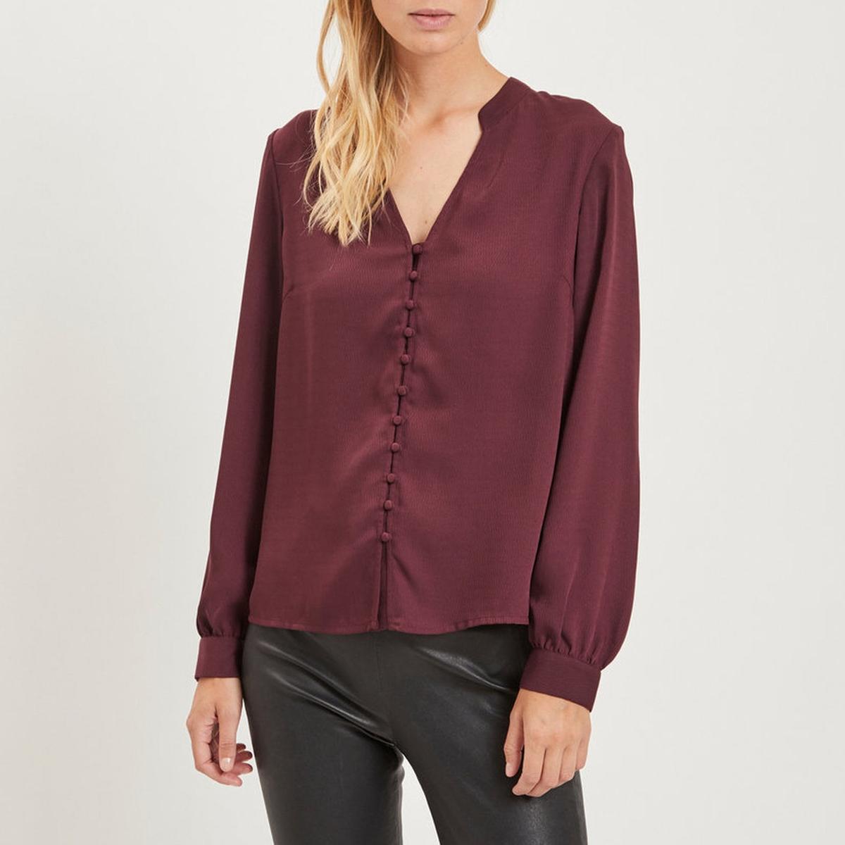 Блузка с v-образным вырезом на пуговицах спереди, длинные рукава блузка с v образным вырезом cirque