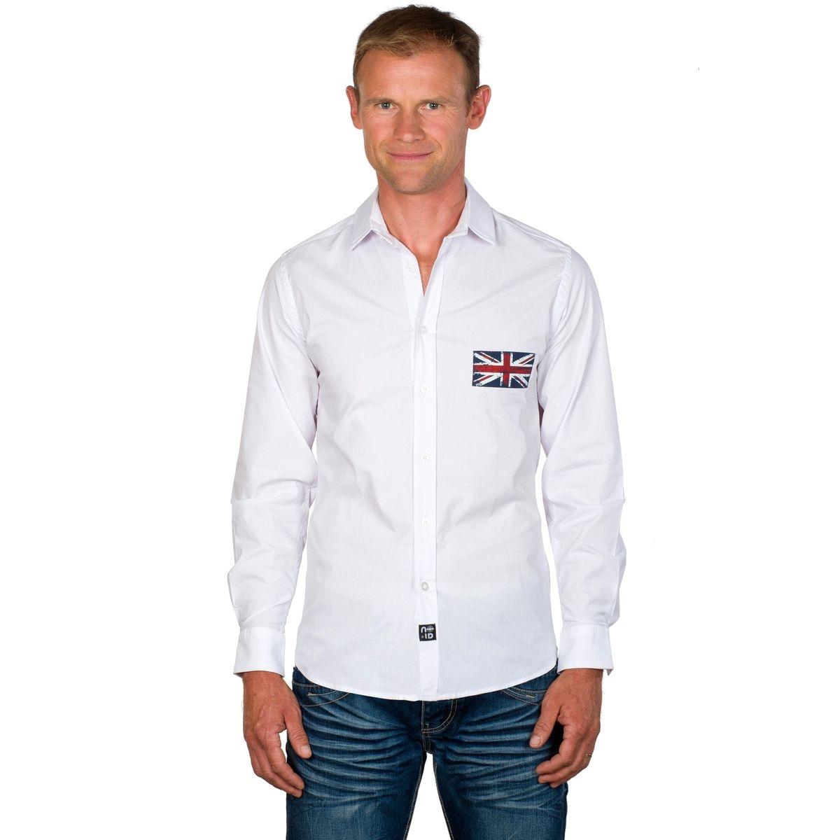 Chemise homme coton stretch Union Jack