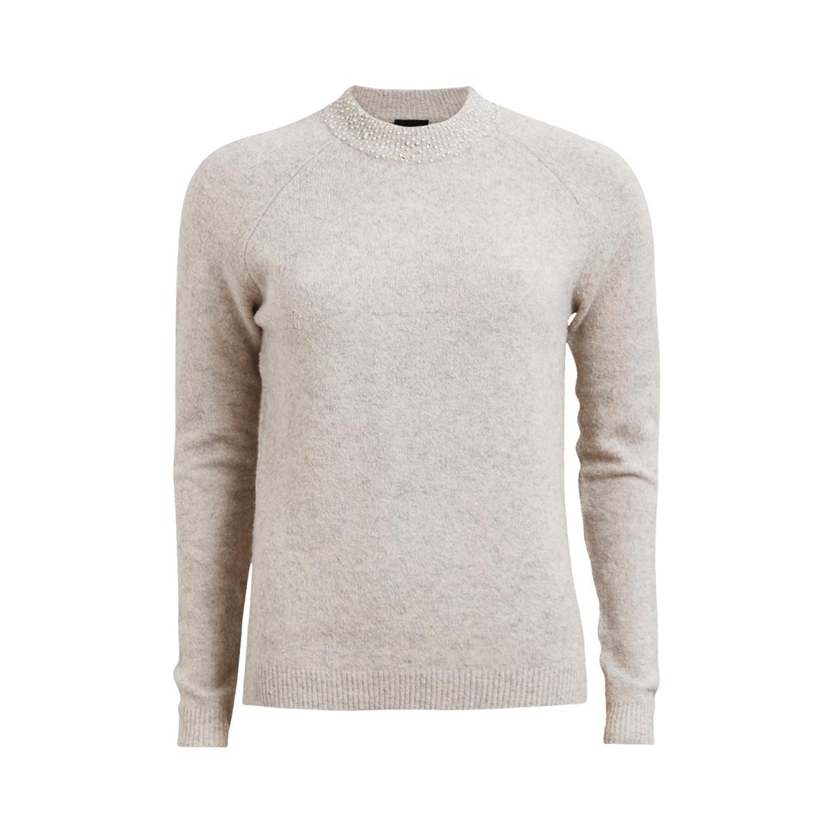 Пуловер со стоячим воротником VIGRADED KNIT TOPСостав и описание :Материал : 48% хлопка, 28% акрила, 18% нейлона, 3% эластана, 3% мохера Марка : VILA.<br><br>Цвет: розово-бежевый<br>Размер: XS.L.S