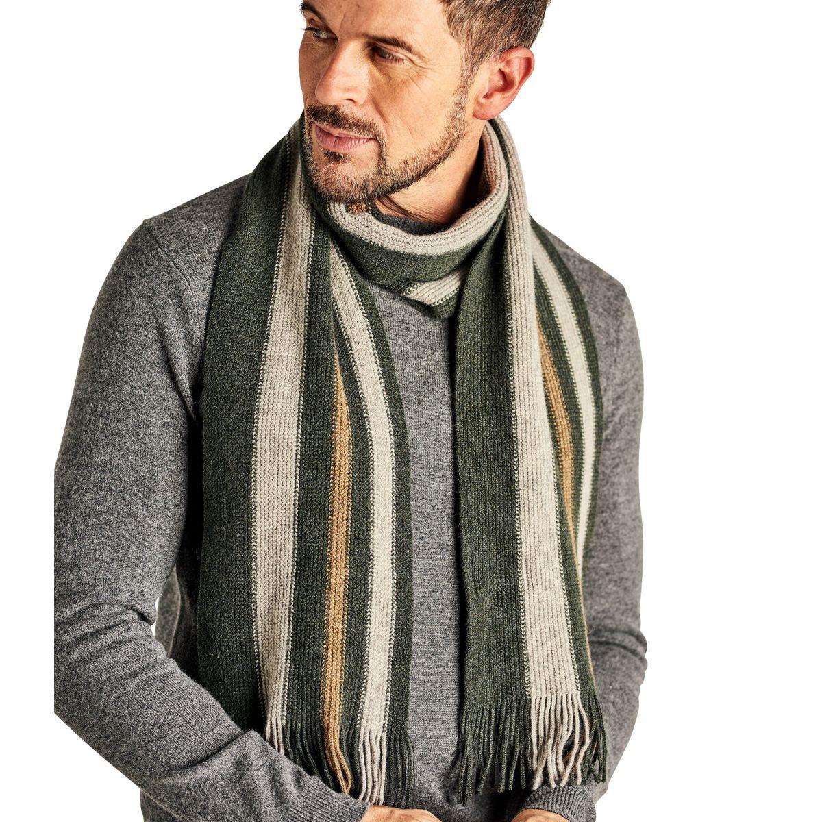 Écharpe à rayures verticales laine d'agneau