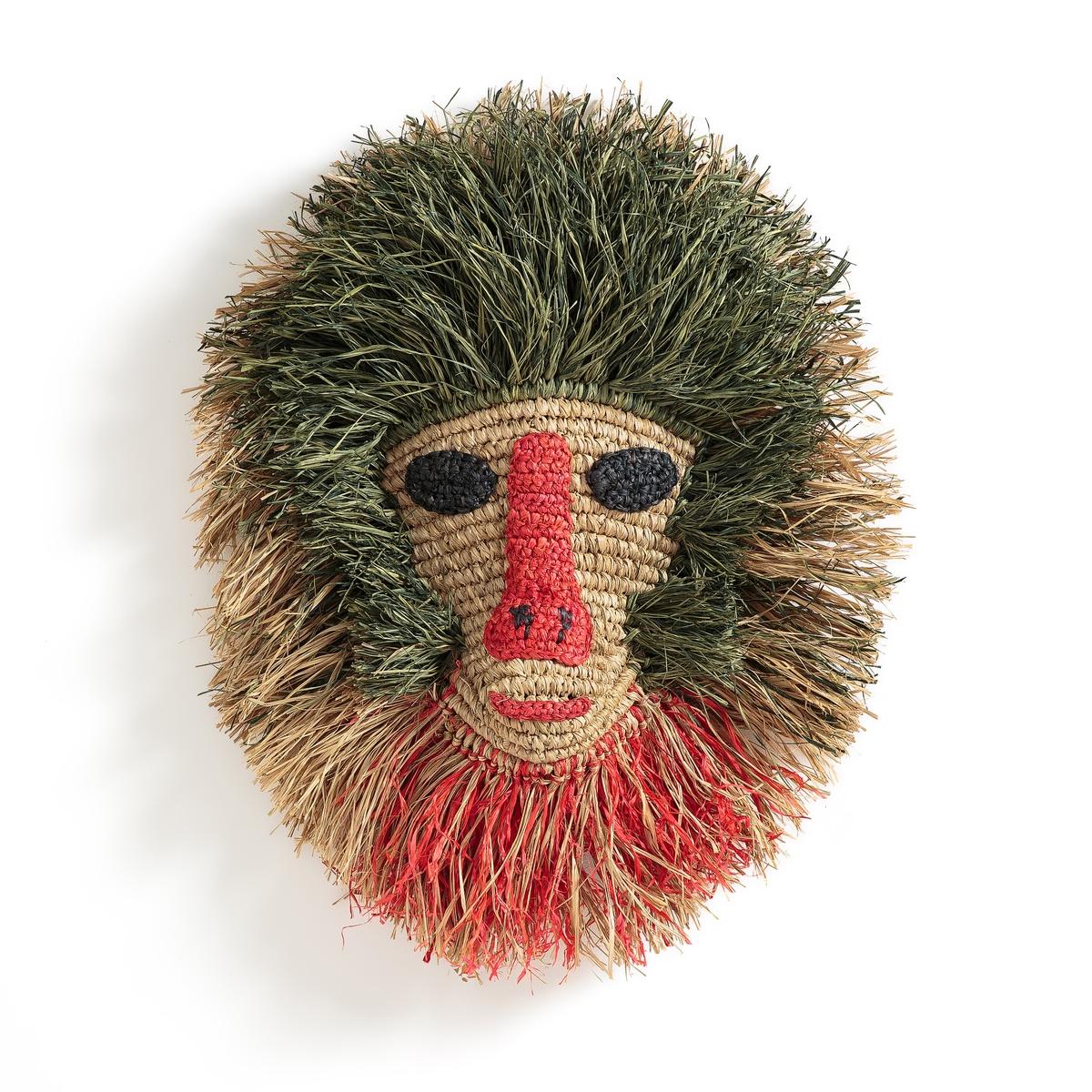 Украшение настенное в виде головы обезьяны RudyardНастенное украшение Rudyard. Раскрашенная голова обезьяны для дикого стиля комнате вашего ребенка! Из рафии и плетеного сизаля. Произведено вручную. Пластина для крепления на стену (винт и дюбель продаются отдельно). Размеры: Ш42 x В52 x Г11,5 см.<br><br>Цвет: разноцветный