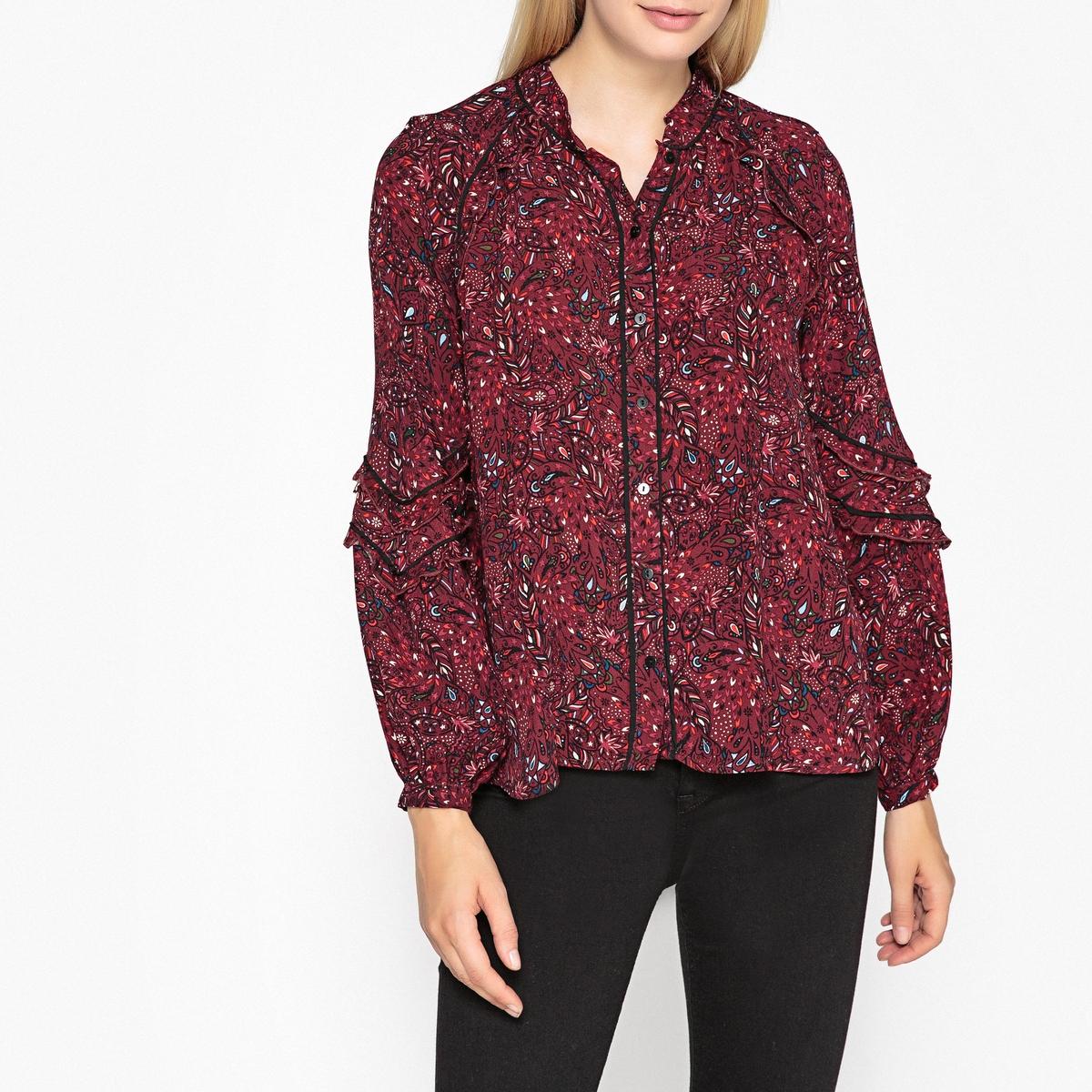 Блузка с рисунком и длинными рукавами FAUVE