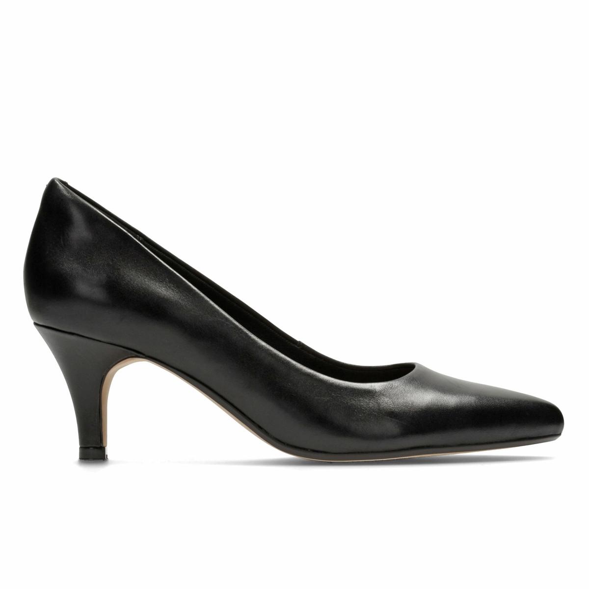 Туфли кожаные Isidora FayeВерх : Кожа.   Подкладка : текстиль   Стелька : синтетика   Подошва : Каучук   Высота каблука : 6,5 см   Форма каблука : тонкий каблук   Мысок : закругленный   Застежка : Без застежки<br><br>Цвет: черный