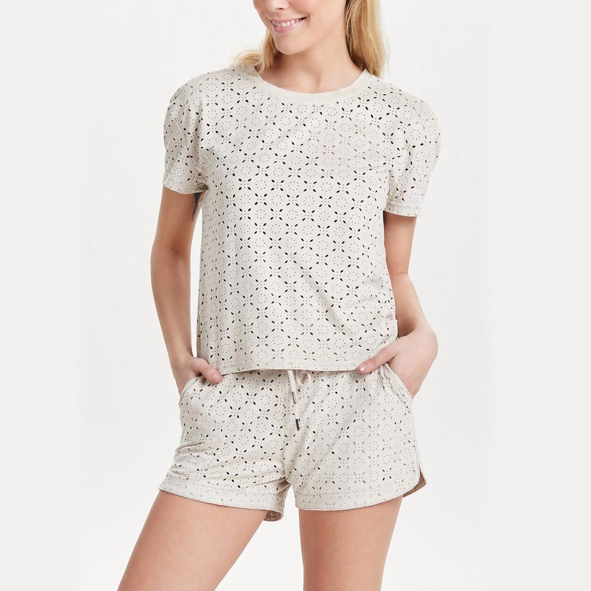 Блузка с короткими рукавами