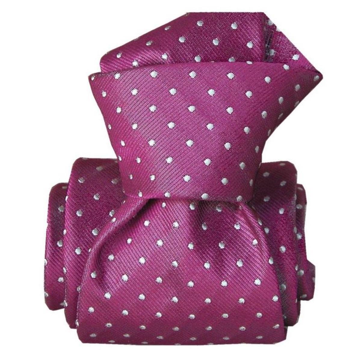 Cravate classique Ostri. Soie Pois