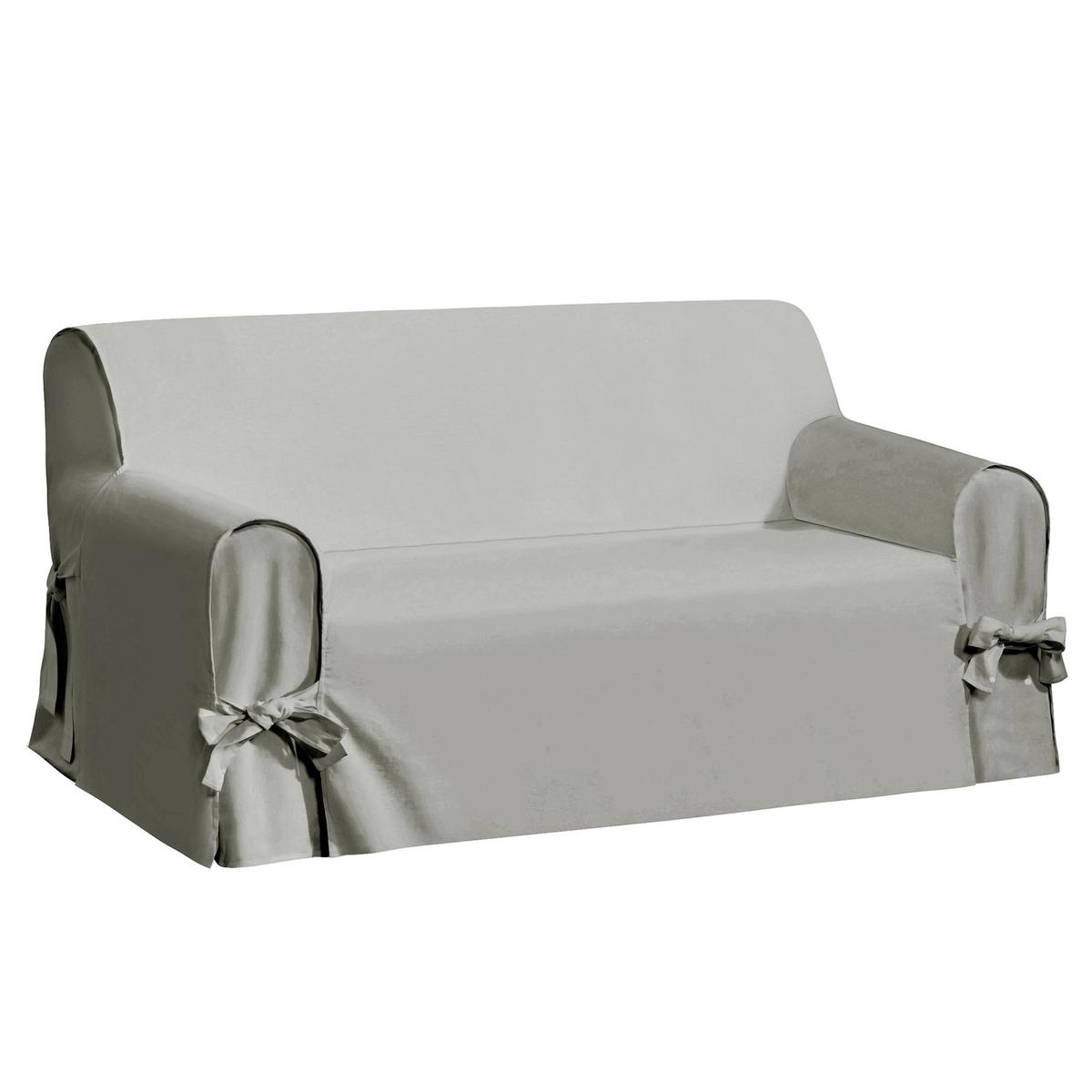 Чехол для диванаКачество VALEUR SURE. Плотная смесовая ткань исключительного качества,  55% льна, 45% хлопка. Общие размеры: общая высота 102 см, глубина сиденья 60 см. Стирка при 40°. Превосходная стойкость цвета к солнечным лучам. 2-местный диван: максимальная ширина 142 см, 2-3-местный диван: максимальная ширина 180 см. 3-местный диван: максимальная ширина 206 см.<br><br>Цвет: антрацит,белый,серо-бежевый,серо-коричневый каштан,серый,экрю<br>Размер: 2 места.3 местн..3 местн..2/3 мест.3 местн..2 места.2 места