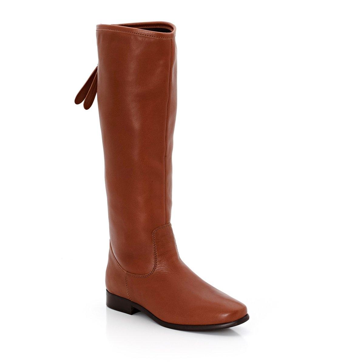 Сапоги кожаные, обхват икры LСапоги, специально предназначенные для женщин с широкими икрами, изготовлено в Португалии.Сапоги, обхват икры L: 38-40 см.<br><br>Цвет: черный<br>Размер: 36