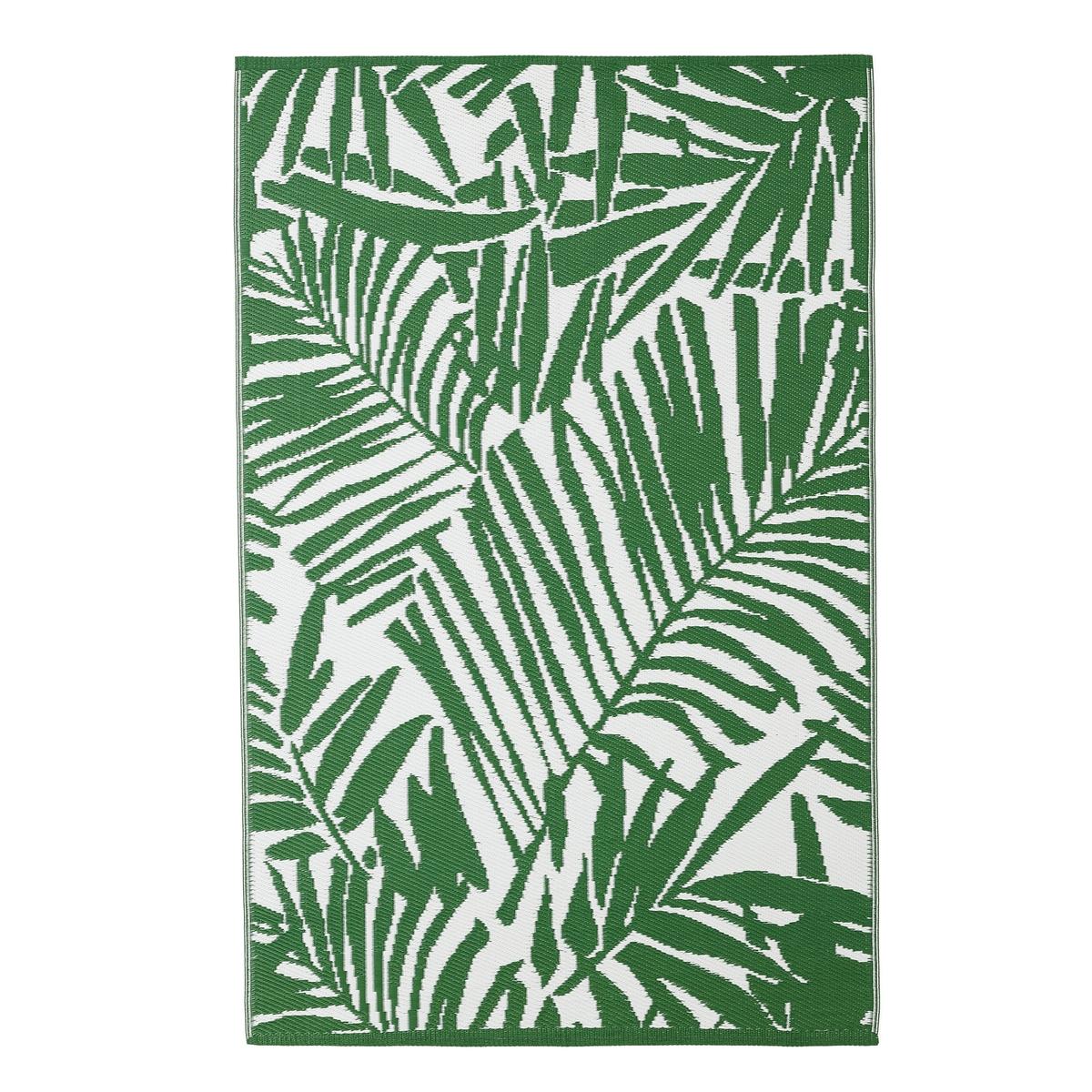 Коврик La Redoute Входной с рисунком пальмовые листья CATALPA 120 x 170 см зеленый ковер la redoute горизонтального плетения с рисунком цементная плитка iswik 120 x 170 см бежевый