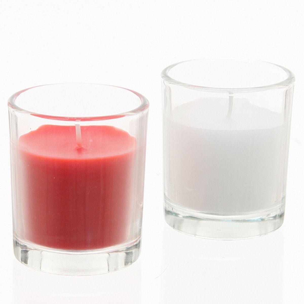 Lot de 2 bougies Tubes en verre